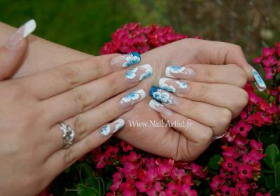 Fleur Bleus sur rallongement chablons