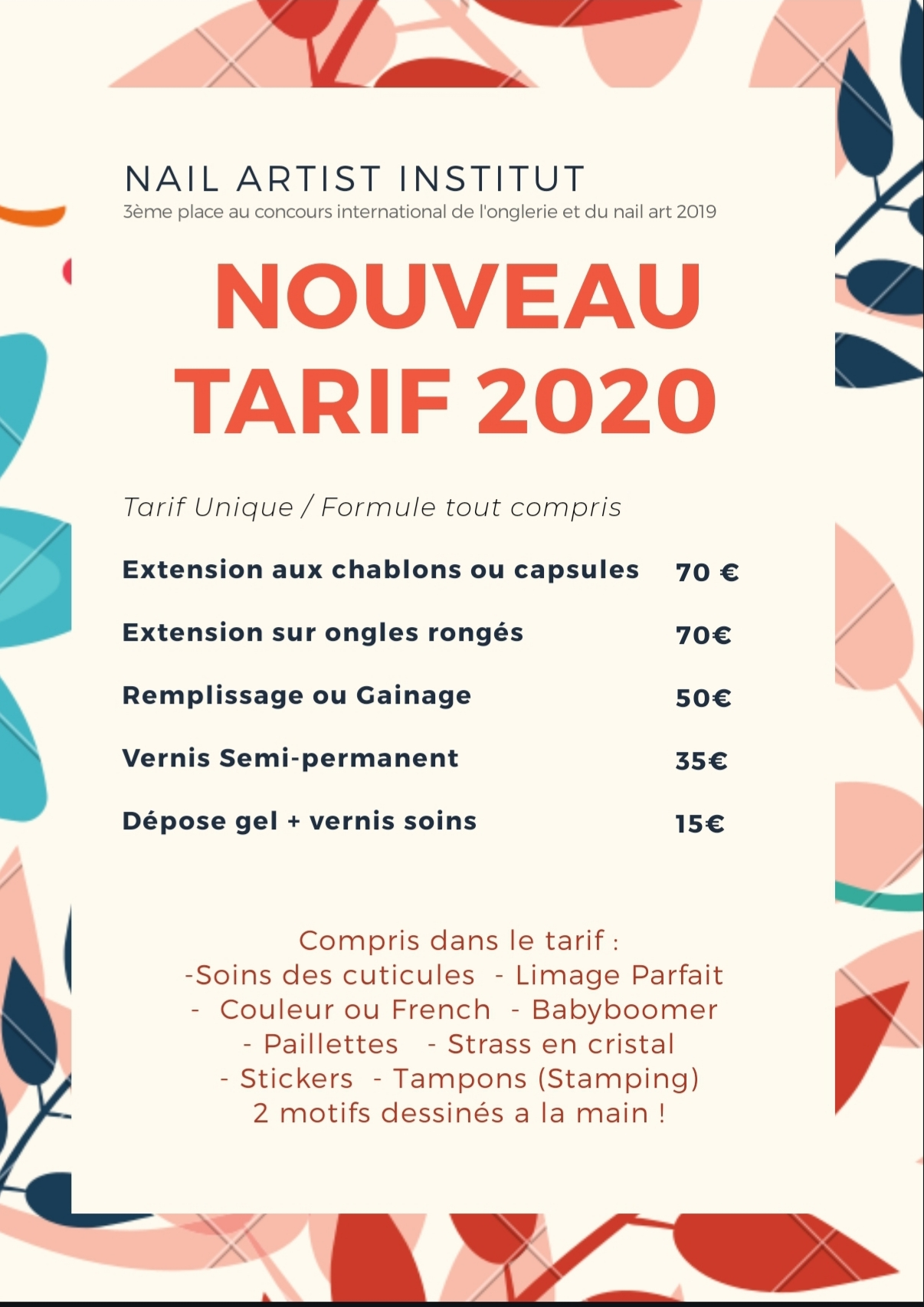 Tarif prothesiste ongulaire